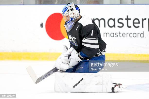 TORONTO ON JULY Goalie Jacob Ingham during the practice Don Meehan's agency Newport Sports Management held a camp camp for his top prospects for the...