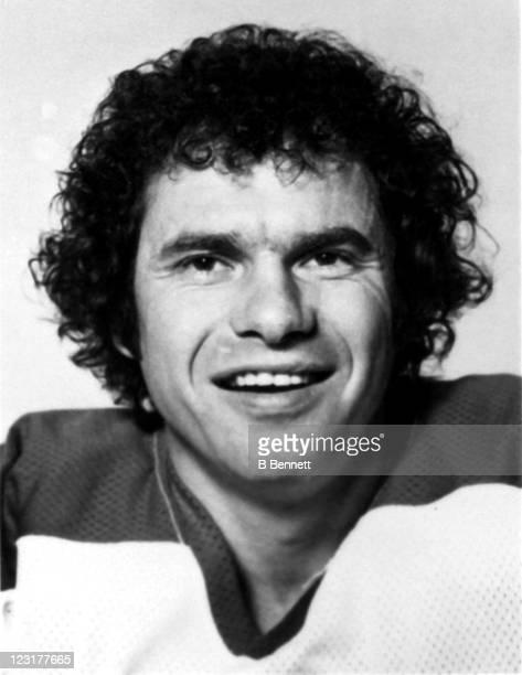 Goalie Joe Daley of the Winnipeg Jets poses for a portrait in September 1976 in Winnipeg Manitoba Canada