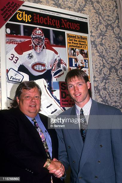 Goalie Patrick Roy of the Montreal Canadiens poses for a portrait in June 1992