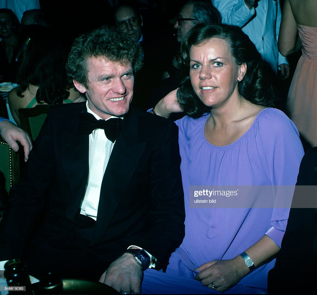 German football players Sepp Maier with wife Agnes