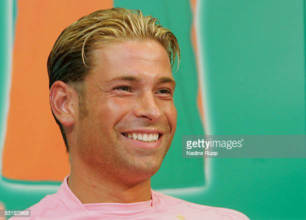 Goalie Tim Wiese attends the Werder Bremen press conference on July 4 2005 in Bremen Germany