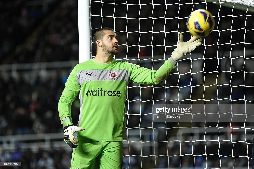 Goalkeeper Adam Federici of Reading during the Barclays Premier League match between Newcastle United and Reading at St James' Park on January 19, 2013 in Newcastle upon Tyne, England.