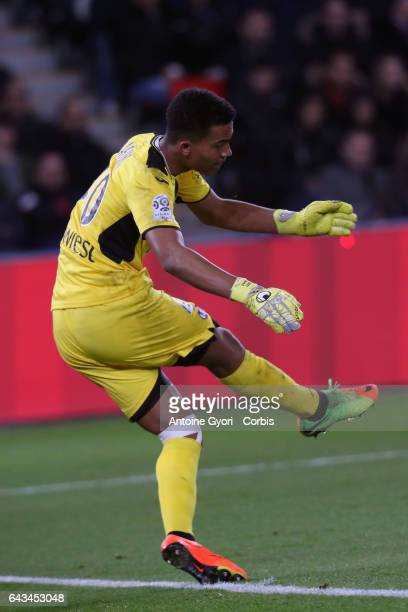 Goalkeeper Alban Lafont of Toulouse during the French Ligue 1 match between Paris Saint Germain and Toulouse at Parc des Princes on February 19 2017...