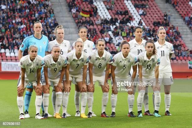 goalkeeper Almuth Schult of Germany women Kristin Demann of Germany women Sara DoorsounKhajeh of Germany women Dzsenifer Marozsan of Germany women...