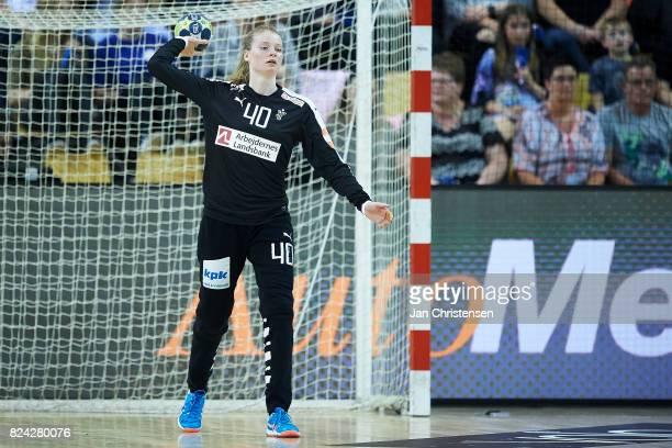 Goalkeeper Althea Reinhardt of Denmark in action during the international friendly match between Denmark and Germany at Ceres Arena on June 08 2017...
