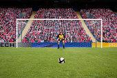 Goalkeeper and football