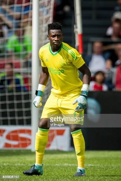 goalkeeper Andre Onana of Ajax during the Dutch Eredivisie match between Ajax Amsterdam and FC Groningen at the Amsterdam Arena on August 20 2017 in...