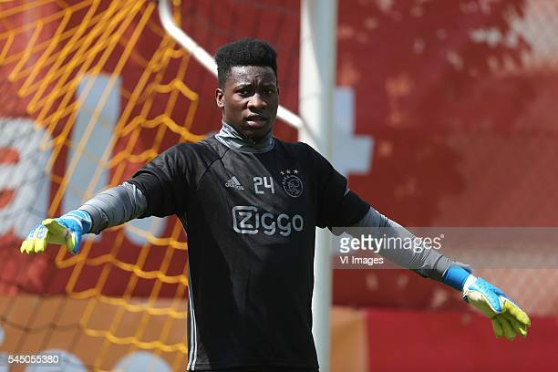 goalkeeper Andre Onana of Ajax during the preseason summer training camp of Ajax Amsterdam on July 5 2016 in Mayrhofen Austria