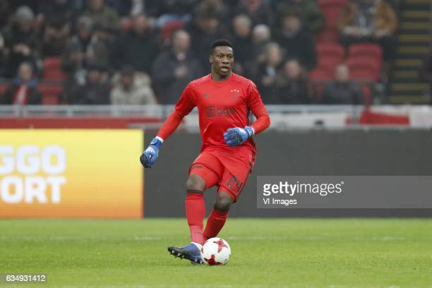goalkeeper Andre Onana of Ajaxduring the Dutch Eredivisie match between Ajax Amsterdam and Sparta Rotterdam at the Amsterdam Arena on February 12...