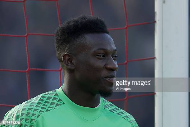 goalkeeper Andre Onana of Ajaxduring the Dutch Eredivisie match between Feyenoord Rotterdam and Ajax at the Kuip on October 23 2016 in Rotterdam The...