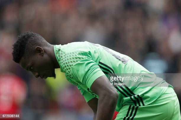 goalkeeper Andre Onana of Ajaxduring the Dutch Eredivisie match between PSV Eindhoven and Ajax Amsterdam at the Phillips stadium on April 23 2017 in...