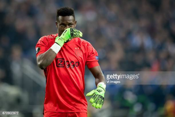 goalkeeper Andre Onana of Ajaxduring the UEFA Europa League quarter final match between Schalke 04 and Ajax Amsterdam on April 20 2017 at the...