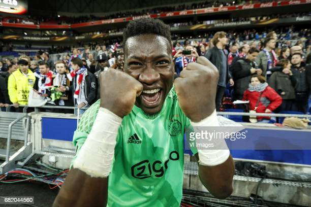 goalkeeper Andre Onana of Ajaxduring the UEFA Europa League semi final match between Olympique Lyonnais and Ajax Amsterdam at Stade de Lyon on May 11...