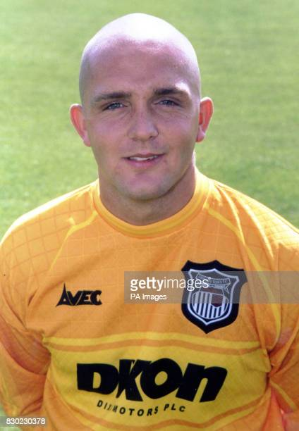 Goalkeeper Andy Love who plays for First Division Grimsby Town FC at Blundell Park Stadium