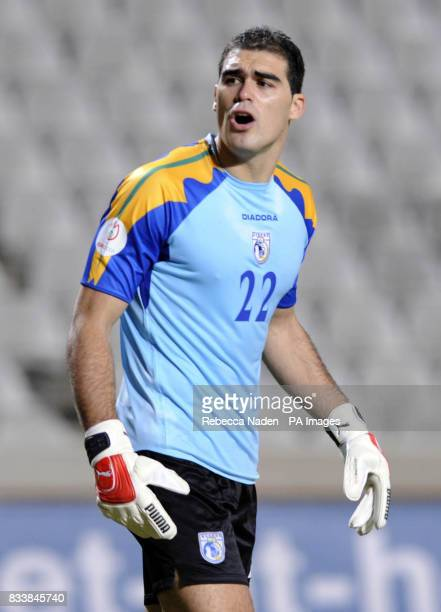 Goalkeeper Antonis T Giorgallidi during the UEFA European Championship Qualifying match at Neo GSP Stadium Nicosia Cyprus Picture date Saturday...