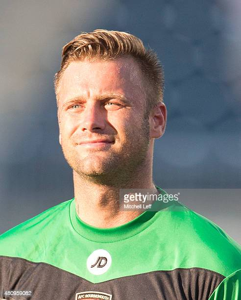 Goalkeeper Artur Boruc of AFC Bournemouth stands for the anthem prior to the friendly match against the Philadelphia Union on July 14 2015 at the PPL...