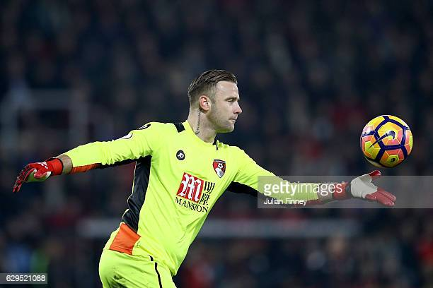 Goalkeeper Artur Boruc of AFC Bournemouth takes a goal kick during the Premier League match between AFC Bournemouth and Leicester City at the...