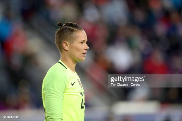 Goalkeeper Ashlyn Harris of United States in action during the USA Vs England SheBelieves Cup match at Red Bull Arena on March 4 2017 in Harrison New...