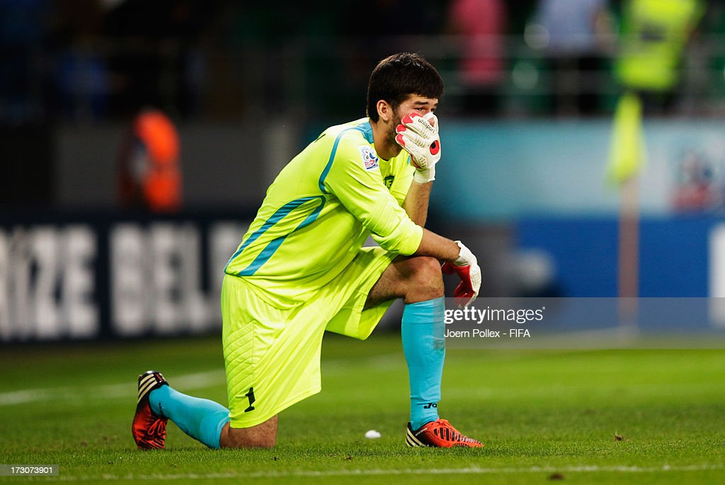 Goalkeeper Asilbek Amanov of Uzbekistan loosk disapointed after the FIFA U-20 World Cup Quarter Final match between France and Uzbekistan at Yeni Sehir Stadium on July 6, 2013 in Rize, Turkey.