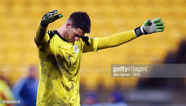 Goalkeeper Augusto Batalla of Argentina reacts during the FIFA U20 World Cup New Zealand 2015 Group B match between Argentina and Ghana at Wellington...