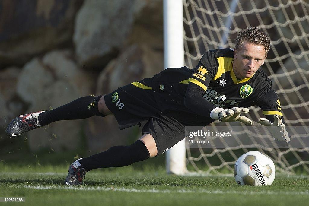 goalkeeper Bas Meeuwissen of ADO Den Haag during the training camp of ADO Den Haag on January 11, 2013 at Estepona, Spain.
