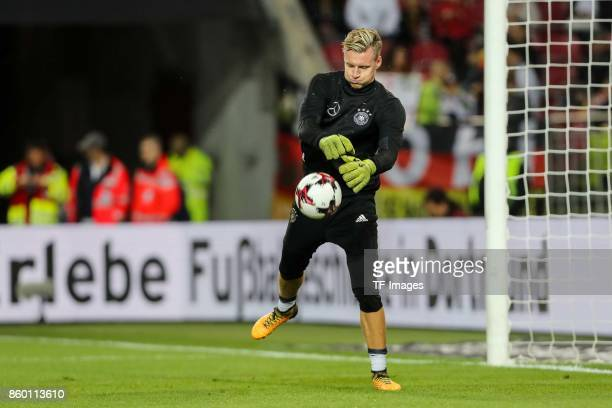 goalkeeper Bernd Leno of Germany in action during the FIFA 2018 World Cup Qualifier between Germany and Azerbaijan at FritzWalter Stadium on October...