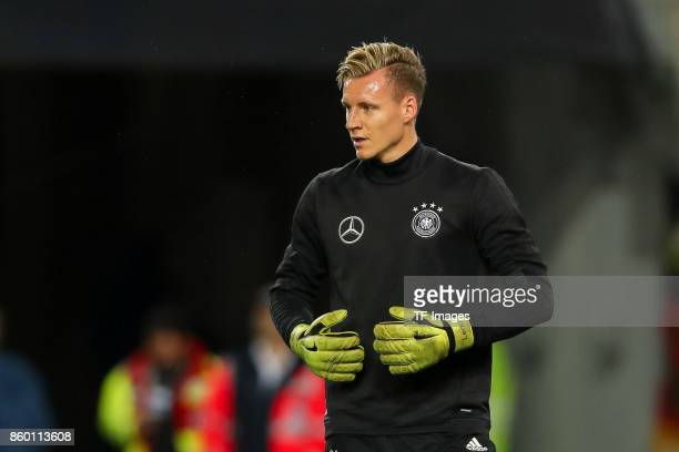 goalkeeper Bernd Leno of Germany looks on during the FIFA 2018 World Cup Qualifier between Germany and Azerbaijan at FritzWalter Stadium on October 8...
