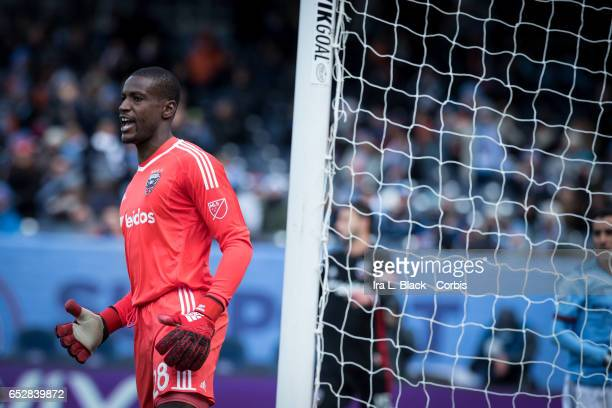 Goalkeeper Bill Hamid of DC United keeps reacts after a goal by New York City FC during the 2017 MLS Season Opening match between NYCFC vs DC United...