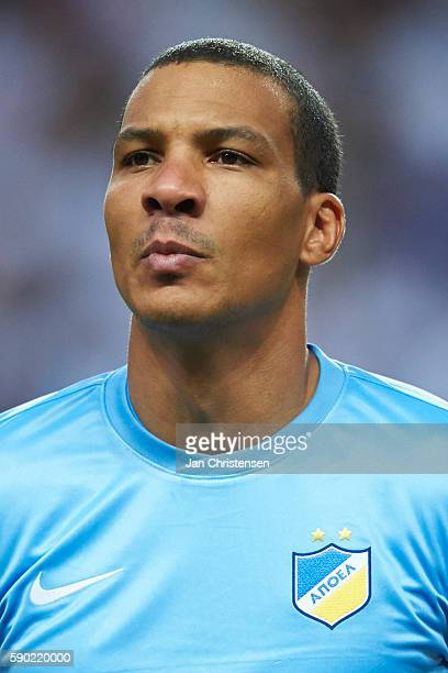 Goalkeeper Boy Waterman of Apoel FC during line up prior the UEFA Champions League Playoff match between FC Copenhagen and Apoel FC at Telia Parken...
