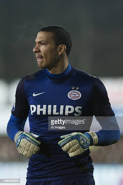 goalkeeper Boy Waterman of PSV during the Dutch Cup match between Rijnsburgse Boys and PSV Eindhoven at sportpark Middelmors on December 18 2012 in...