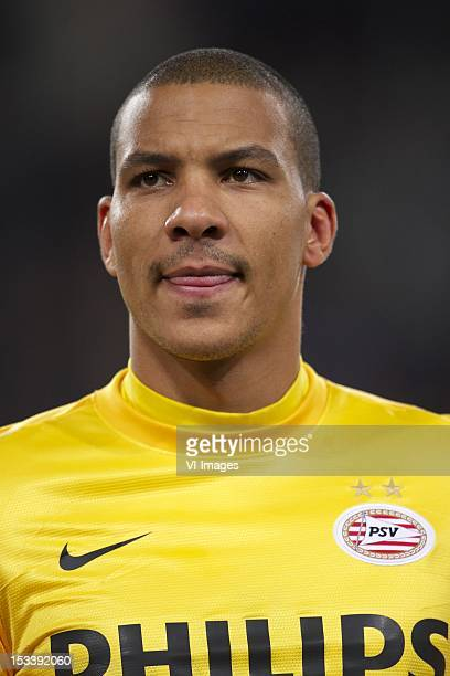goalkeeper Boy Waterman of PSV during the Europa League match between PSV Eindhoven and SSC Napoli at the Philips stadium on October 04 2012 in...