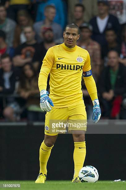 goalkeeper Boy Waterman of PSV during the Europa League Playoff match between PSV and FC Zeta Golubovci at the Philips Stadium on August 30 2012 in...