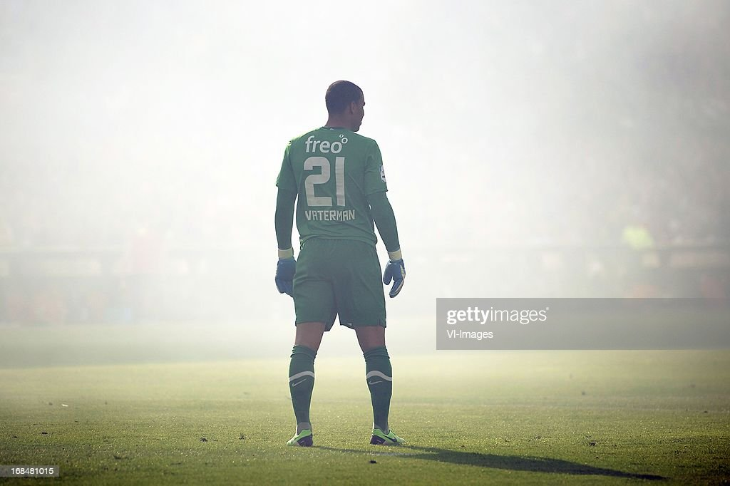 goalkeeper Boy Waterman of PSV fog during the Dutch Cup final match between AZ Alkmaar and PSV Eindhoven on May 9, 2013 at the Kuip stadium in Rotterdam, The Netherlands.