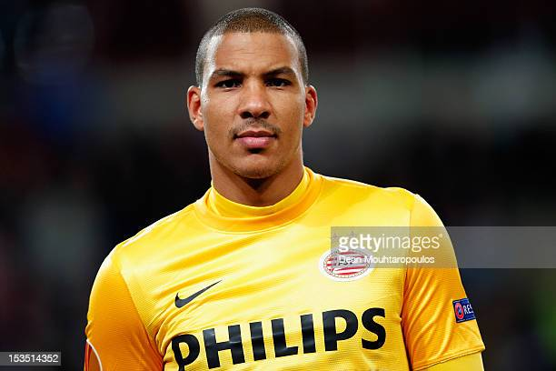 Goalkeeper Boy Waterman of PSV looks on prior to the UEFA Europa League Group F match between PSV Eindhoven and SSC Napoli at the Philips Stadion on...