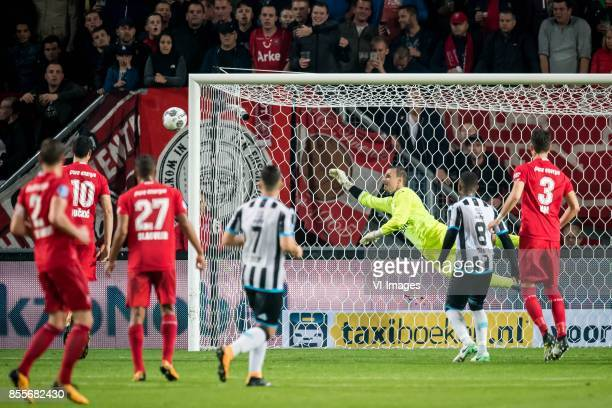 goalkeeper Bram Castro of Heracles Almelo 12 during the Dutch Eredivisie match between FC Twente Enschede and Heracles Almelo at the Grolsch Veste on...