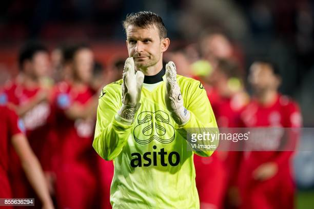 goalkeeper Bram Castro of Heracles Almelo during the Dutch Eredivisie match between FC Twente Enschede and Heracles Almelo at the Grolsch Veste on...