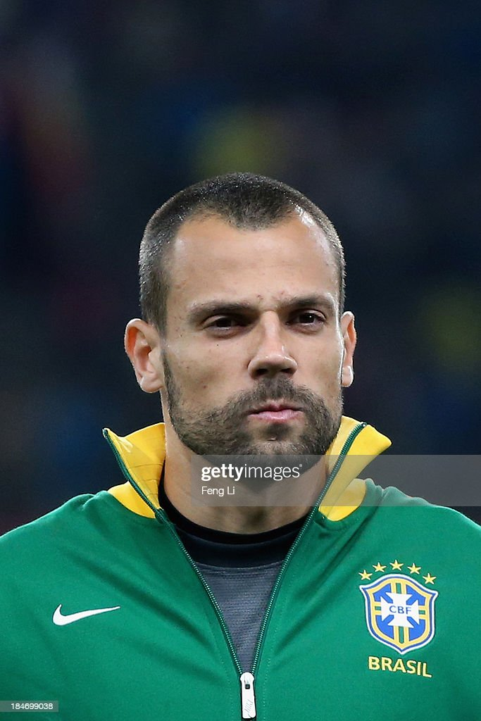 Goalkeeper Cavalieri Diego of Brazil poses during the international friendly match between Brazil and Zambia at Beijing National Stadium on October 15, 2013 in Beijing, China.