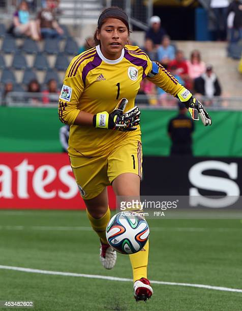 Goalkeeper Cecilia Santiago of Mexico during the FIFA U20 Women's World Cup Canada 2014 group C match between England and Mexico at Moncton Stadium...