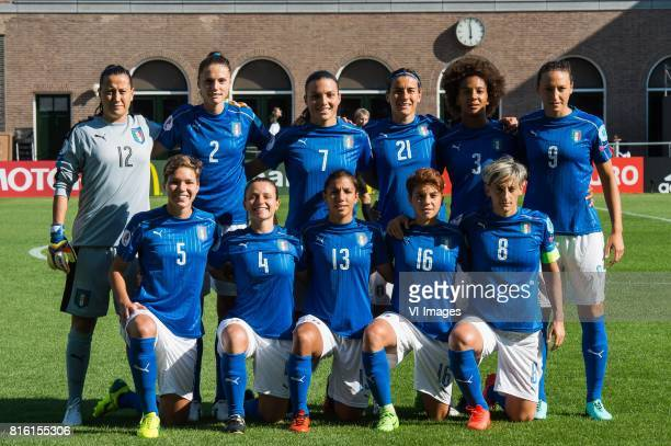 goalkeeper Chiara Marchivelli of Italy Women Cecilia Salvai of Italy Women Alia Guagni of Italy Women Marta Carissimi of Italy Women Sara Gama of...