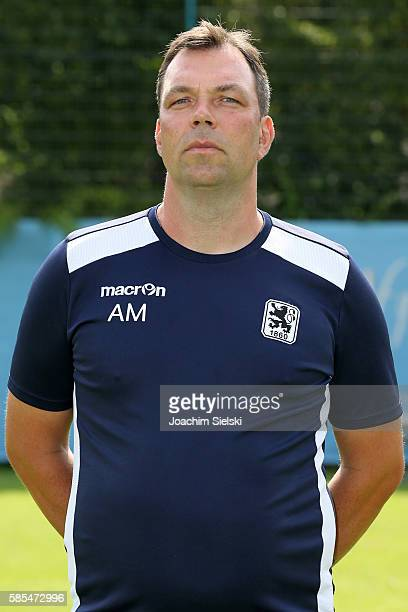 Goalkeeper Coach Andreas Menger poses during the official team presentation of TSV 1860 Muenchen at Trainingsgelaende on July 22 2016 in Munich...
