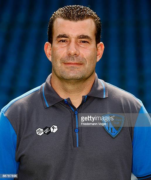 Goalkeeper coach Peter Greiber poses during the VfL Bochum team presentation at the rewirpower stadium on June 29 2009 in Bochum Germany