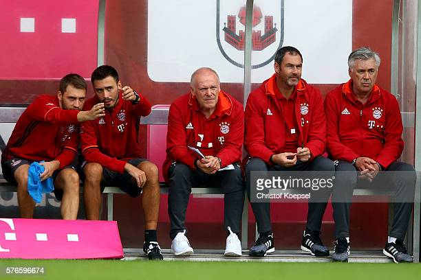 Goalkeeper coach Toni Tapalovic assistant coach Davide Ancelotti assistant coach Hermann Gerland assistant coach Paul Clement and head coach Carlo...