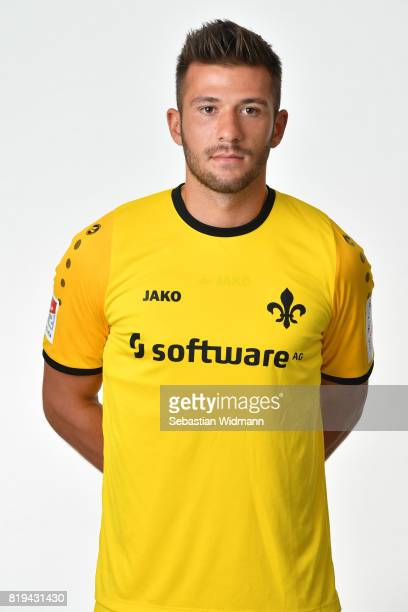 Goalkeeper Daniel Heuer Fernandes of SV Darmstadt 98 poses during the team presentation at MerckStadion am Boellenfalltor on July 20 2017 in...
