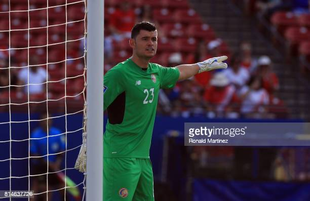 Goalkeeper Danny Carvajal of Costa Rica during play against French Guiana during the 2017 CONCACAF Gold Cup at Toyota Stadium on July 14 2017 in...