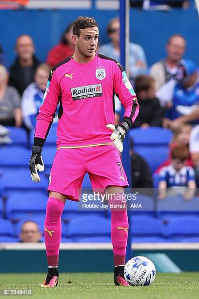 Goalkeeper Danny Ward of Huddersfield Town during the Sky Bet Championship match between Ipswich Town and Huddersfield Town at Portman Road on...