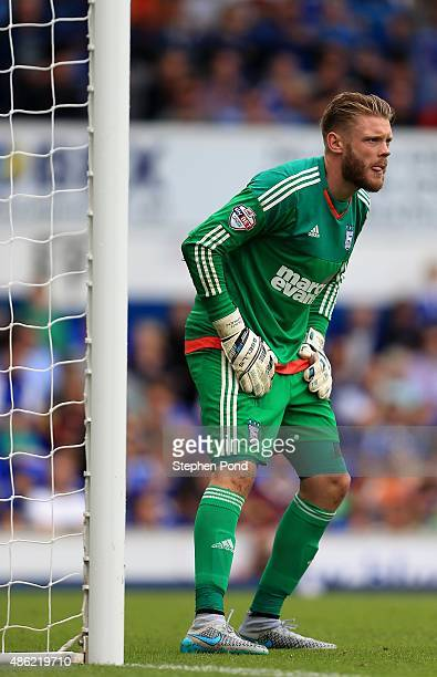 Goalkeeper Dean Gerken of Ipswich during the Sky Bet Championship match between Ipswich Town and Brighton and Hove Albion at Portman Road stadium on...