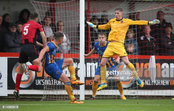 Goalkeeper Dean Henderson of Shrewsbury Town in action during the preseason friendly match between Brackley Town and Shrewsbury Town on July 11 2017...