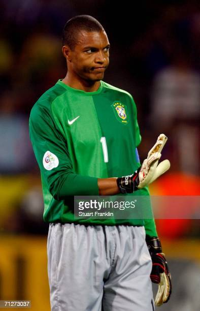 Goalkeeper Dida of Brazil looks on during the FIFA World Cup Germany 2006 Group F match between Japan and Brazil at the Stadium Dortmund on June 22...