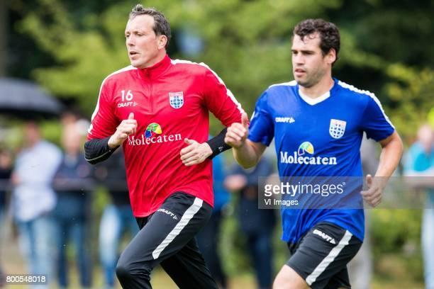 goalkeeper Diederik Boer of PEC Zwolle Dirk Marcellis of PEC Zwolleduring a training session at Sportpark De Elshof on June 24 2017 in Wijthem The...