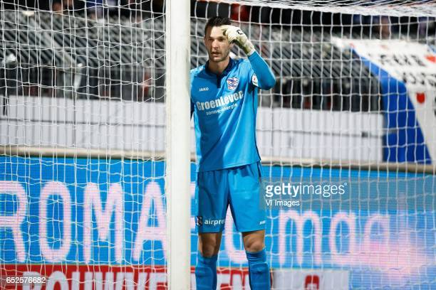 goalkeeper Erwin Mulder of sc Heerenveenduring the Dutch Eredivisie match between sbv Excelsior Rotterdam and sc Heerenveen at Woudenstein stadium on...